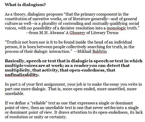 dialogic argument essay