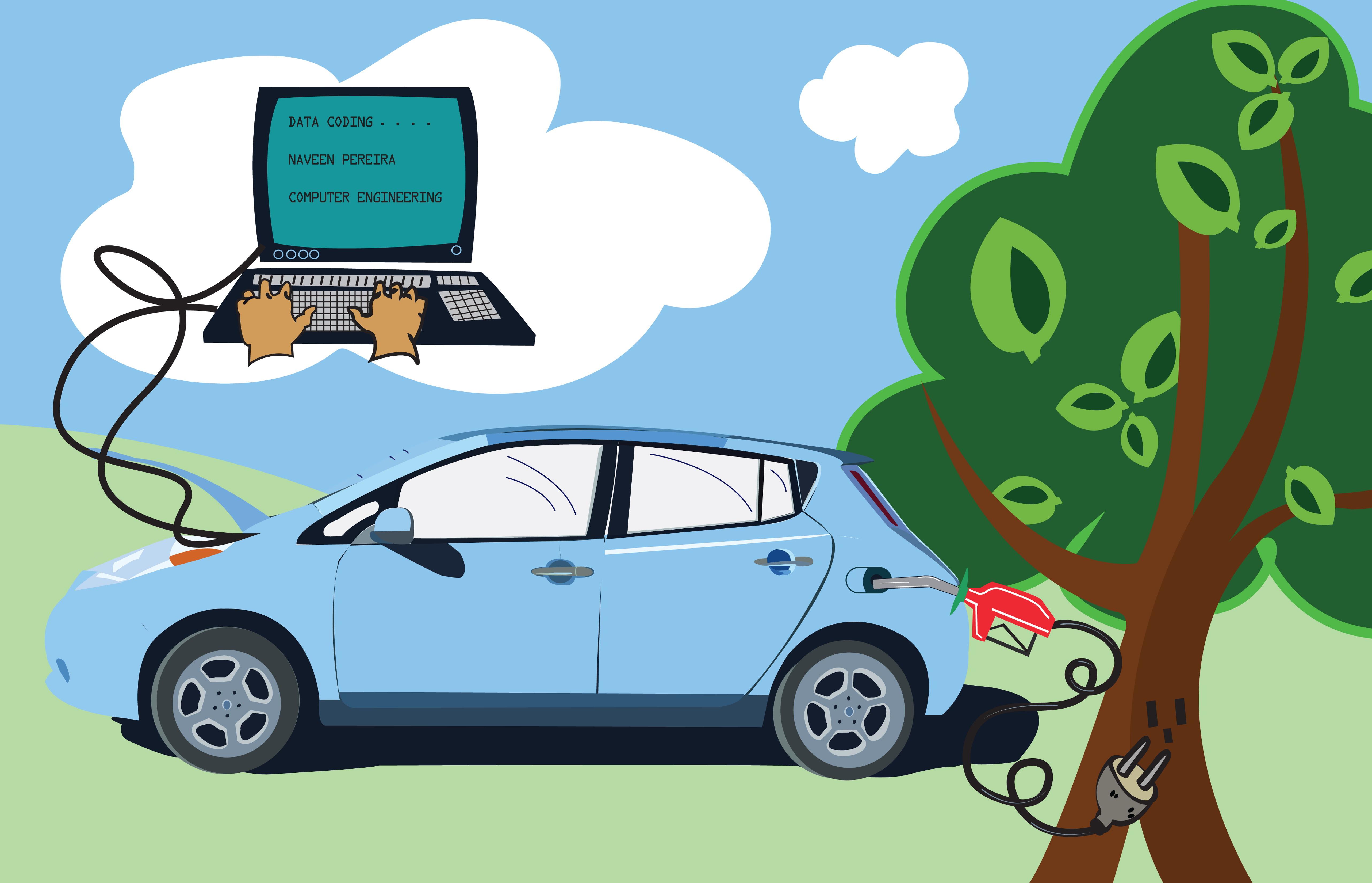 Electric Car Vs Fossil Fuel Car