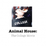 Slide from Author Presentation on _Animal House_.