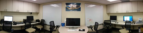 Panoramic view of DevLab resources.