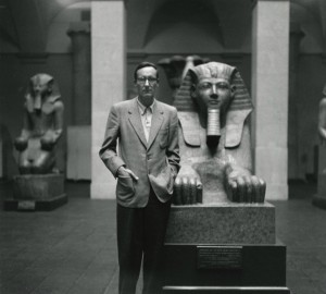 Burroughs, photographed in the Metropolitan Museum of Art by Allen Ginsberg in 1953. Image available at http://www.howardgreenberg.com/artists/allen-ginsberg/featured-works#7.