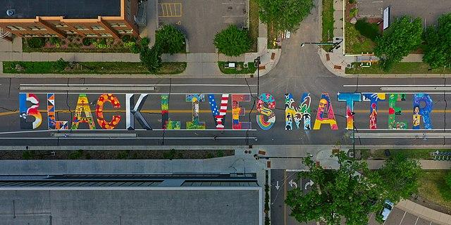 Black Lives Matter written on a street